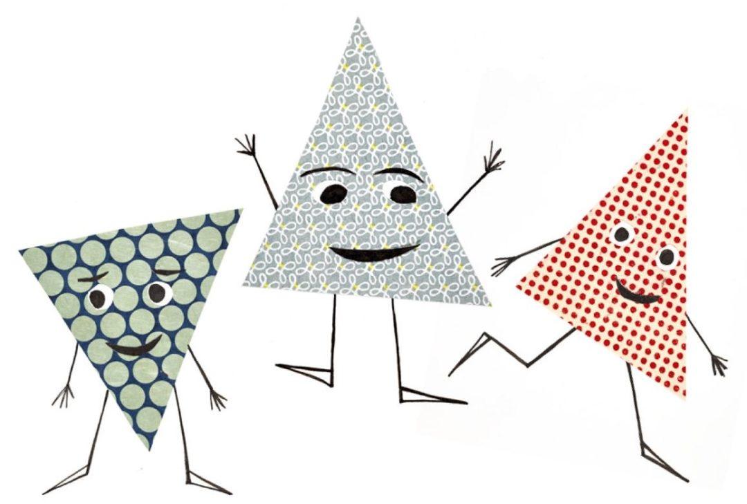 drei kleine Dreiecksfiguren